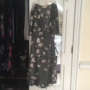 Everly Floral Wrap Dress